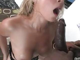 bubble gazoo blond bitch taking dark boner up her