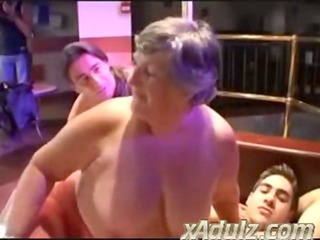 chunky grannies having wicked sex in a disrobe
