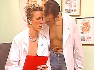 homosexual doctors fuck in the office