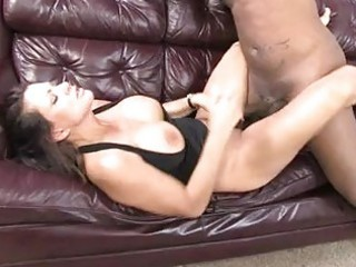 enormous chested brunette hair rides and sucks