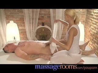 massage rooms concupiscent masseuse has a