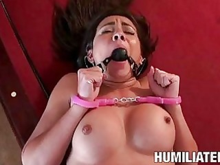 darksome haired pornstar in hawt underware sucks