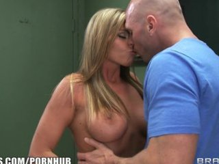 lascivious big-booty golden-haired helps take