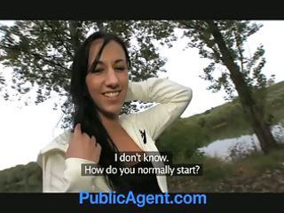 publicagent brunette hair beauty acquires laid on