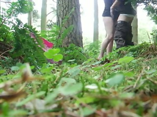 blondie gives me a bj in the woods