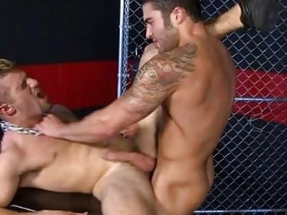 tattoed homosexual dude receives arse licking and