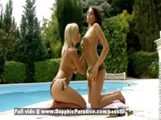zara and candie blond and redhead lesbos giving a