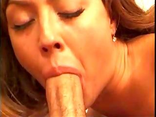 young slut suck pecker and receive splooge on her