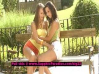 veronika and klaudia lusty lesbian gals licking