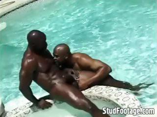 interracial poolside homo anal fucking