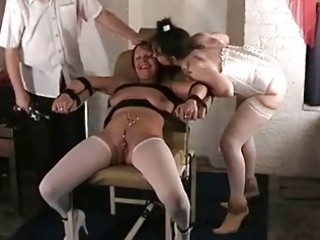 Lesbian medical fetish slave in doctors bdsm