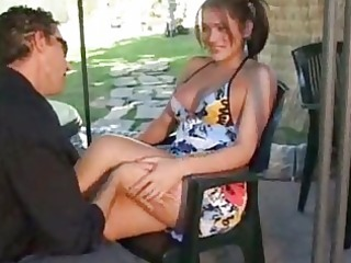 outdoor anal sex for titty lady-boy ends with