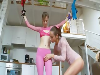 72yo russian teenagers playing with toys