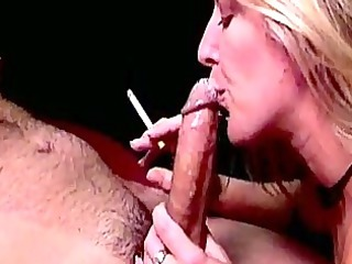 chesty golden-haired smoker hoe dia zerva gives