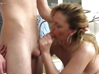 nasty mother fucking and engulfing youthful doctor