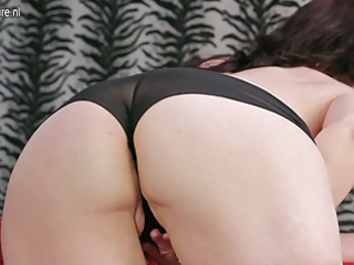 lustful older mamma playing with herself