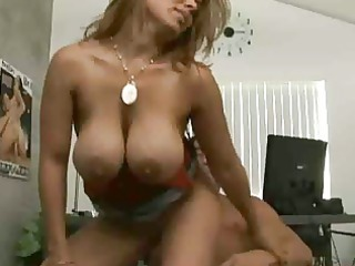 breasty golden-haired sucks and licks schlong and