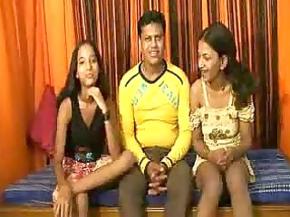 Hot threeway Indian slamming