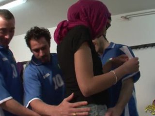 arabian gal in groupsex with soccer players