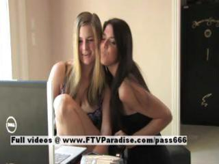 claire and danielle ingenious sexy lesbian babes