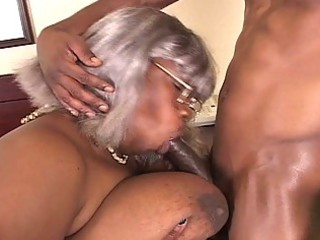 big beautiful woman darksome grandma receives a