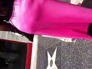 darksome d like to fuck in pink suit showing strap
