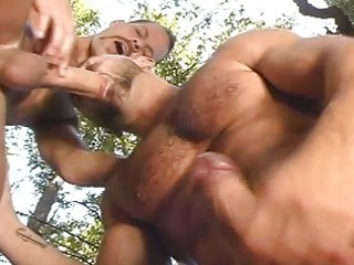 turned on homo men doing a oral pleasure act