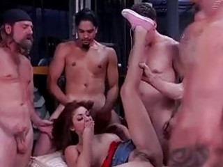 chanel in a group-sex at lunch break