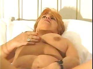 big beautiful woman granny pleases herself with