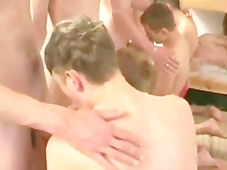 81 youthful twink chaps have a party-orgy.