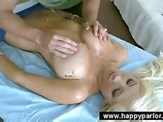 sporty gal acquires erotic massage