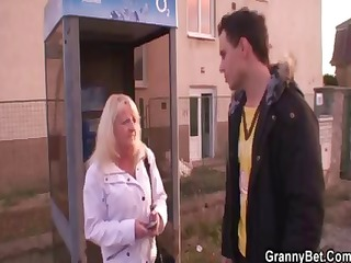 old blond is picked up for a fine fucking