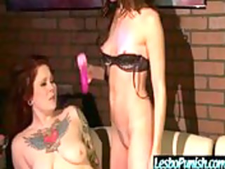 cuties receives punished and drilled by lesbian