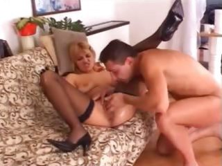 golden-haired sweetheart fisted and drilled hard