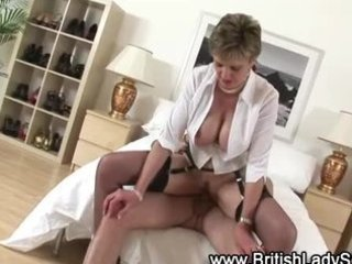 check breasty aged brit receive a spunk flow