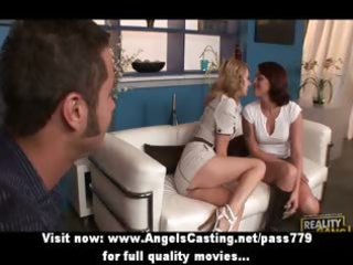 sexy hot swinger angels have their cookie licked