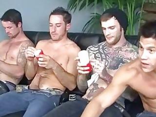 fours naughty homo hunks masturbating on porn