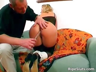 sexy and lewd older golden-haired wanks hard part3
