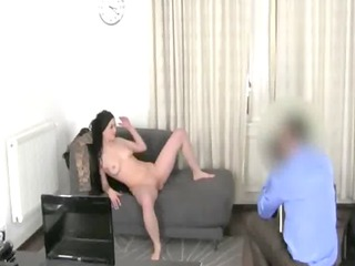 tatto hottie copulating with fake agent