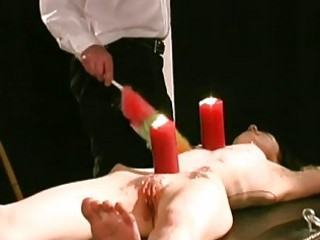 serf gal candle waxed and clamped