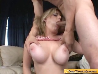 breasty honey trys deepthroat orall-service
