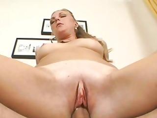 lusty blond honey rides a chunky palpitating boner