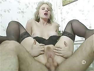 bored french wife in nylons has three-some