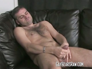 bear hunks jerking off his large piece