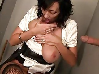 breasty alia sucks raw weenie at gloryhole