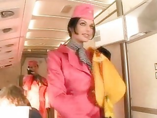 super air hostess engulfing pilots large weenie