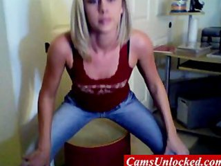 golden-haired ex tina stripping for web camera