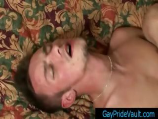 poor white fellow getting a facial from large