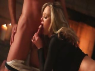 titty blond fucking previous to fireplace
