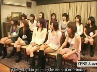 subtitled japanese students cfnm with big dark guy